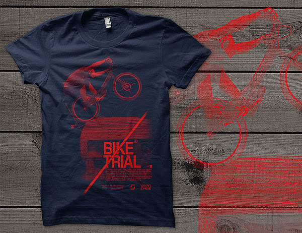 Kaos Sepeda URBN Bike Trial T-shirt
