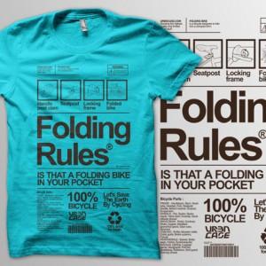 Kaos Sepeda URBN Foldingbike Rules T-shirt