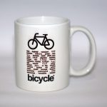 gelas sepeda URBNCASE bicycle world mug