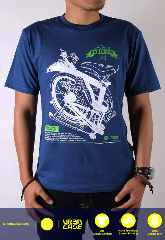 kaos Brompton Folding Bike Tshirt