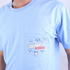 brompton tshirt urbncase front detail pocket