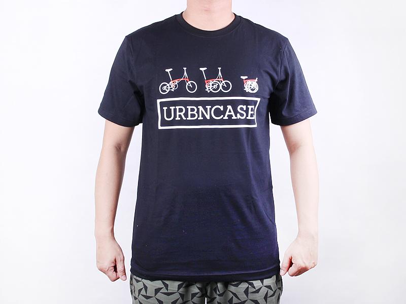 URBNCASE_brompton logo black tshirt front2
