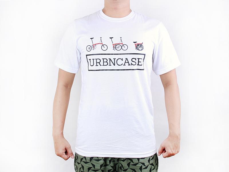 URBNCASE_Brompton logo white tshirt front