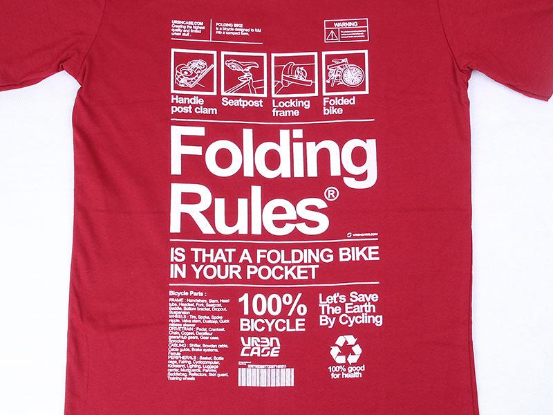 URBNCASE_foldingbike rules maroon tshirt front details