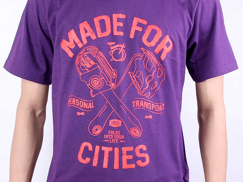 URBNCASE brompton tshirt made for cities purple details