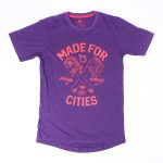 URBNCASE brompton tshirt made for cities purple front