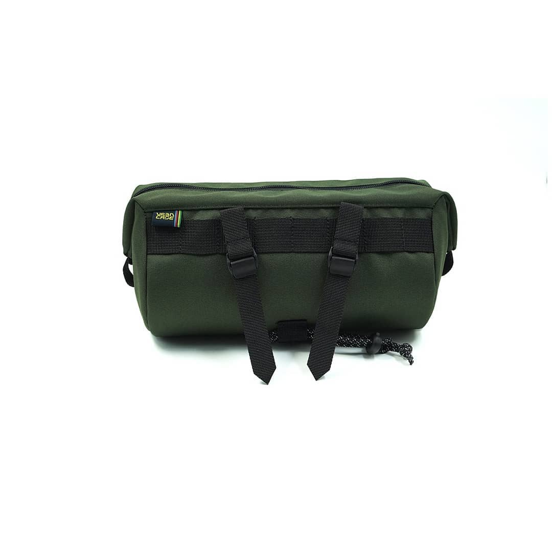 Olive Green Tubularwing Bag (bar or saddle bag) back
