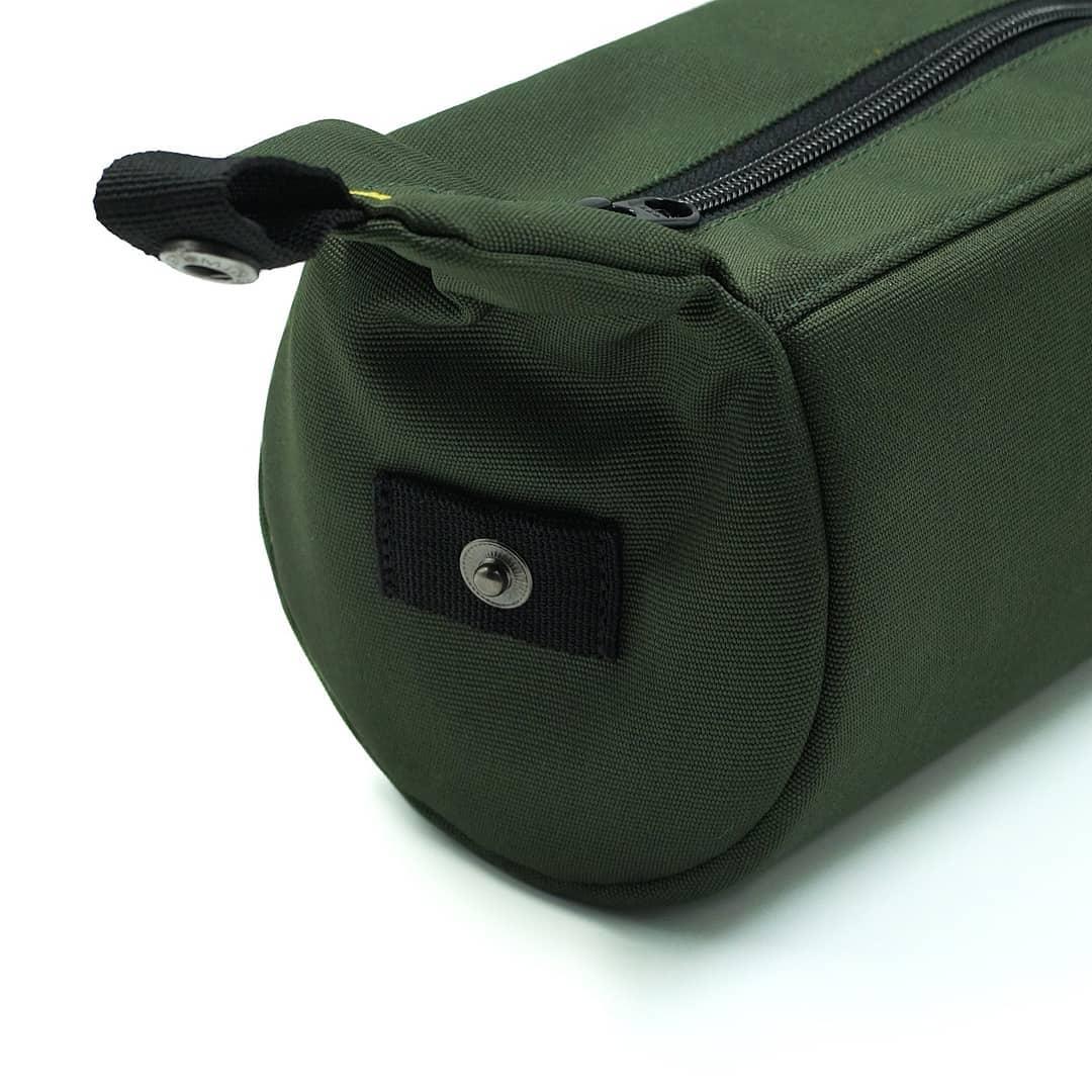 Olive Green Tubularwing Bag (bar or saddle bag) detail