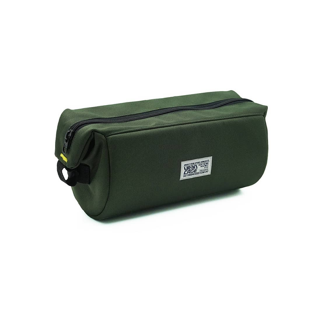 Olive Green Tubularwing Bag (bar or saddle bag) tanpa tali